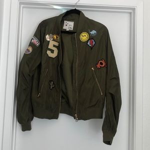 Jackets & Blazers - Green jacket with Cute patches